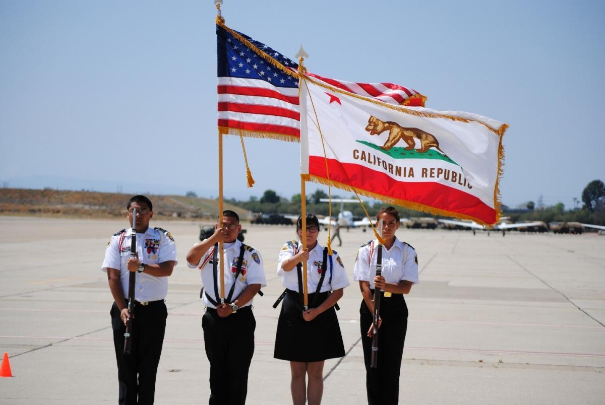 b1 color guard california cadet corps